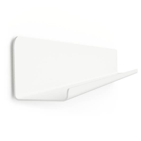 GALLERY SHELF WHITE 40-120cm without Dots