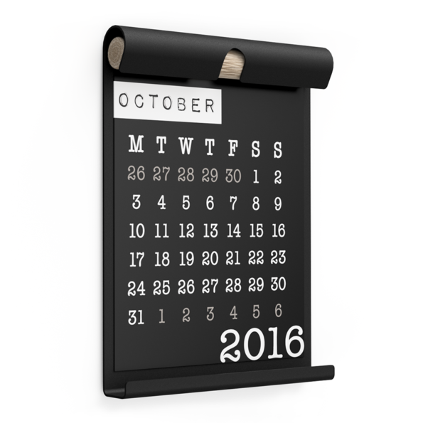 WALL BOARD A4 BLACK incl. CALENDAR 2 BLACK