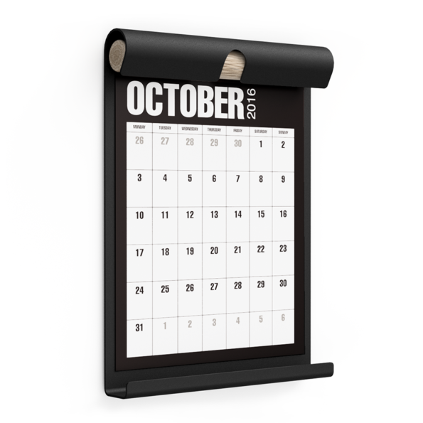 WALL BOARD A4 BLACK incl. CALENDAR 1 BLACK