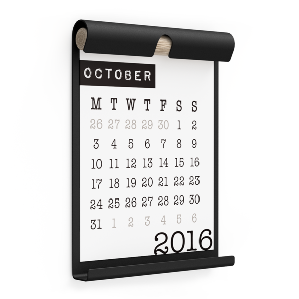 WALL BOARD A4 BLACK incl. CALENDAR 2 WHITE