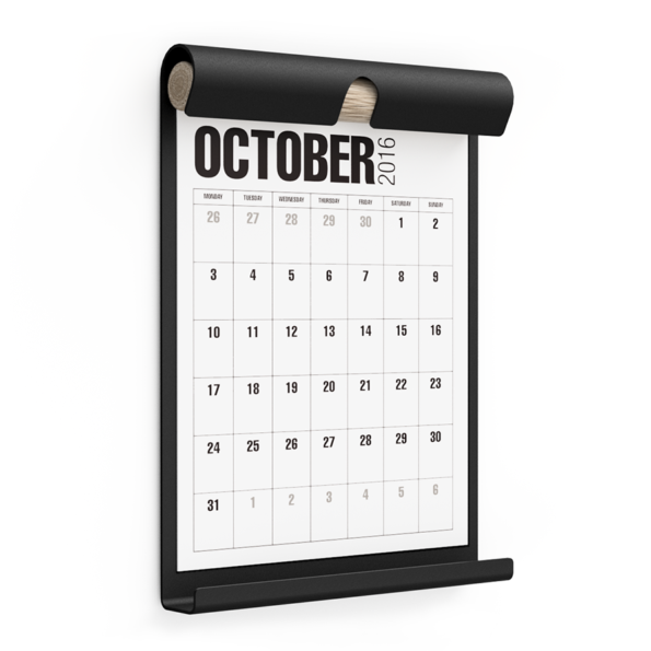 WALL BOARD A4 BLACK incl. CALENDAR 1 WHITE