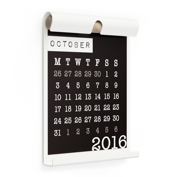 WALL BOARD A4 WHITE incl. CALENDAR 2 BLACK