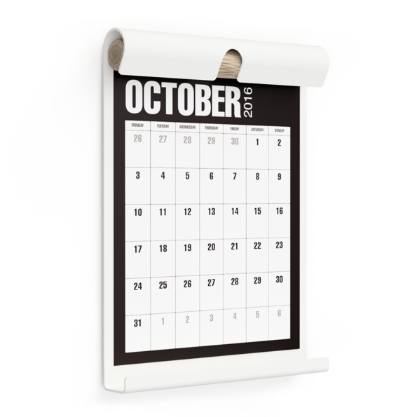 WALL BOARD A4 WHITE incl. CALENDAR 1 BLACK