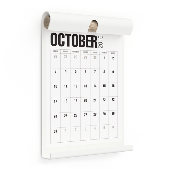 WALL BOARD A4 WHITE incl. CALENDAR 1 WHITE