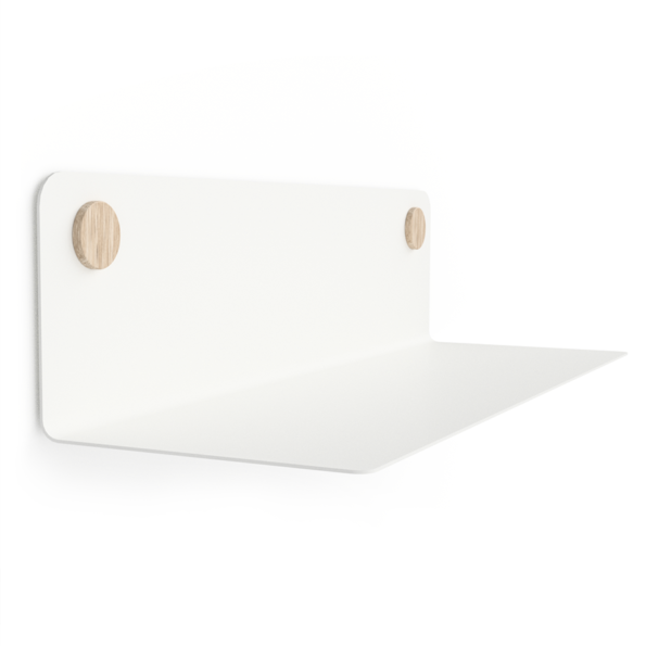 FLOAT SHELF 60 WHITE w. oak Dots