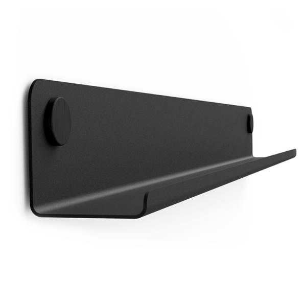 GALLERY SHELF BLACK 40-120cm w. black Dots