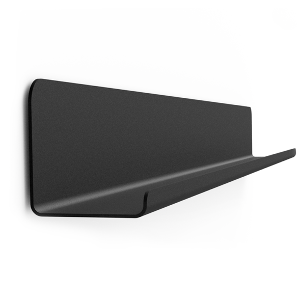 GALLERY SHELF BLACK 40-120cm without Dots