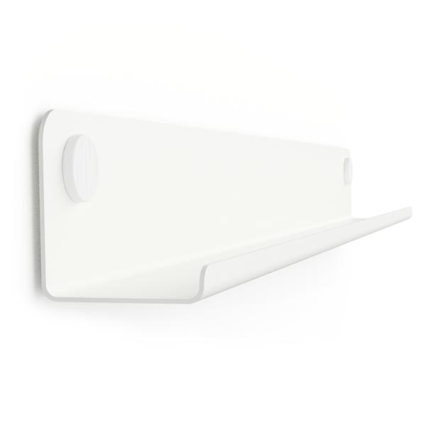 GALLERY SHELF WHITE 40-120cm w. white Dots